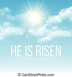 He is risen. Easter background. Vector illustration
