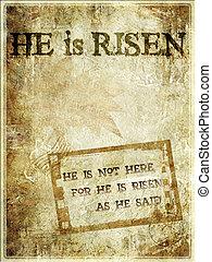 """""""he, páscoa, risen"""", fundo"""