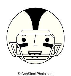 head american football player character