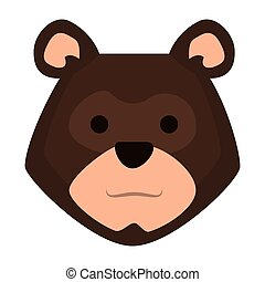 head bear grizzly icon