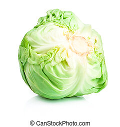 Head Cabbage isolated on white background