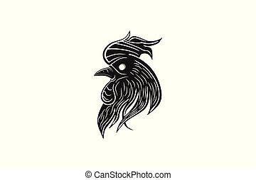 Head chicken rooster logo Designs Inspiration Isolated on...