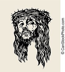 Christ Sketch Drawing - Head Christ Sketch Drawing, art...