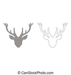 Head deer  set  icon .