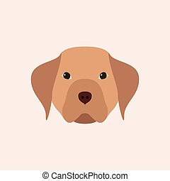 Head dog. Simple pet.