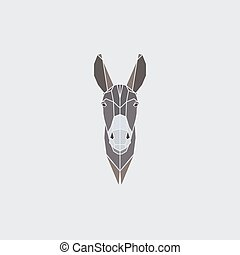 Head donkey icon.