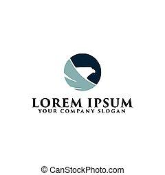 head eagle bird logo design concept template