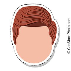 head face man isolated icon