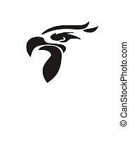 head falcon bird