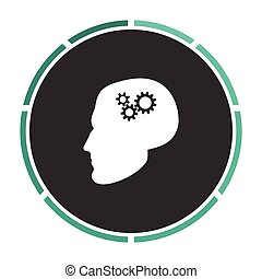 Head gears computer symbol