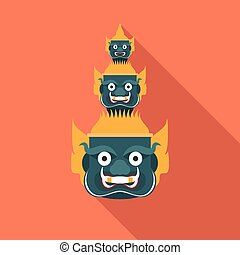 head giant of Thailand , vector