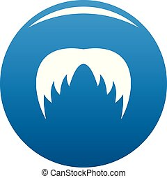 Head hair icon blue vector