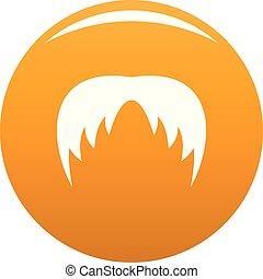 Head hair icon vector orange
