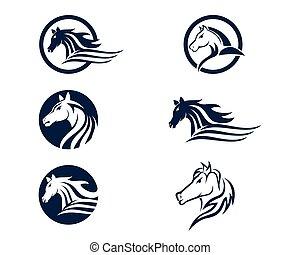 Head Horse Logo Template