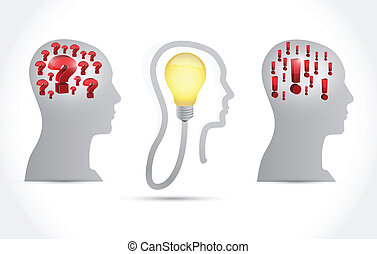 head idea concept illustration design