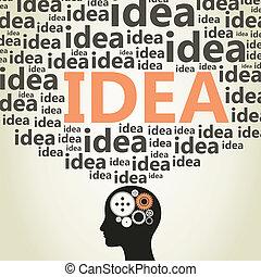 Head idea - Idea from a head of the person. A vector...