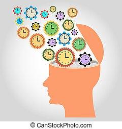 head: illustration: many clocks like gear wheels contacting...