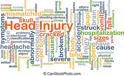 Head injury background concept - Background concept...