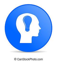 head internet blue icon