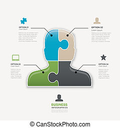 Head jigsaw puzzle piece business m
