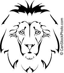 head., leone, tatuaggio