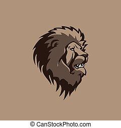 head lion illustration vector design.