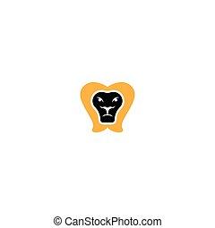 Head lion logo template vector