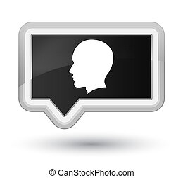 Head male face icon prime black banner button