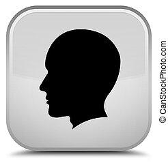 Head male face icon special white square button