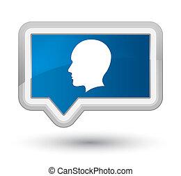 Head men face icon prime blue banner button