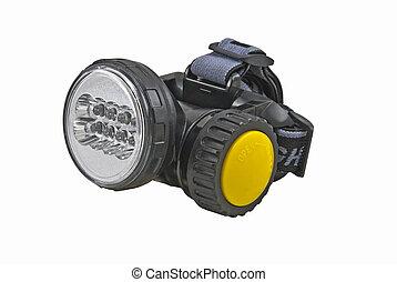 Head-mounted flashlight - The small head-mounted flashlight...