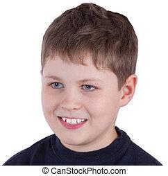 Head of a boy close up portrait