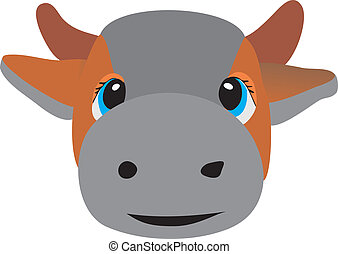 Head of a cow