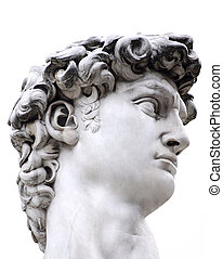 David - Head of a famous statue by Michelangelo - David from...