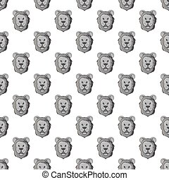 Head of a lion seamless pattern