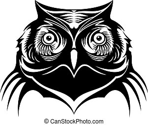 Head of a wise old owl