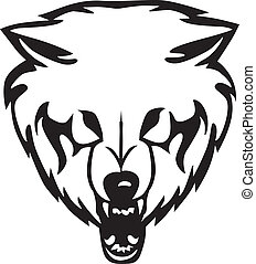 Head of a wolf. Vector illustration - Head of a wolf on a ...