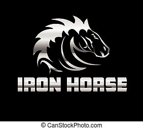 head of agreesive iron horse