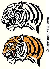 head of angry tiger