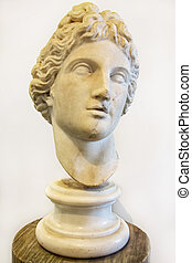 Head of Apollo, museum in Roman Forum, Rome, Italy