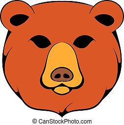 Head of bear icon cartoon - Head of bear icon in cartoon...