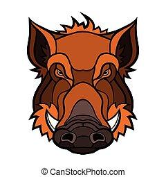Head of boar mascot color design