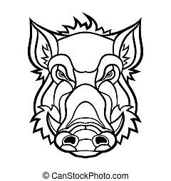 Head of boar mascot design