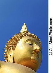 Head of Buddha meditation statue in Thailand