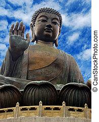 Head of Buddha - Isolated image of Buddha's head giant...