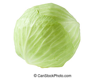 Head of cabbage isolated - Head of cabbage is isolated on a ...