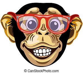 head of cartoon chimpanzee