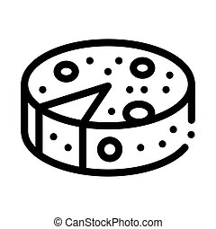 head of cheese icon vector outline illustration - head of ...
