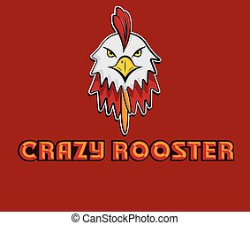 head of crazy rooster