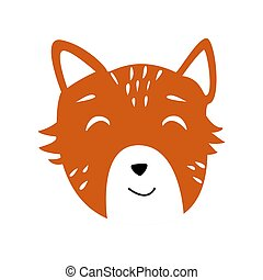 Head of cute animal vector illustration